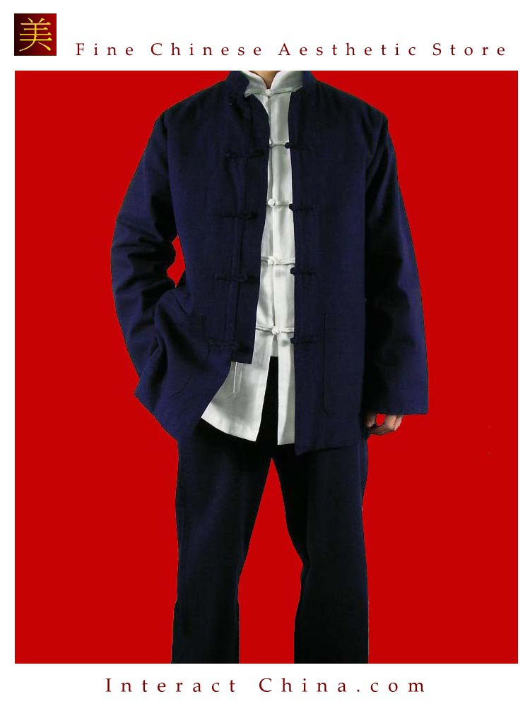 100% Cotton Blue Kung Fu Martial Arts Tai Chi Uniform Suit XS-XL or Tailor Custom Made