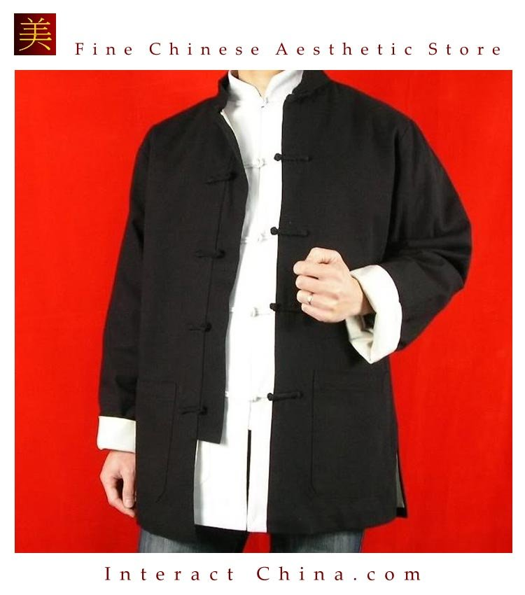 Fine Linen Black Kung Fu Martial Arts Tai Chi Jacket Coat XS-XL or Tailor Custom Made