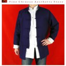 Fine Linen Blue Kung Fu Martial Arts Tai Chi Jacket Coat XS-XL or Tailor Custom Made