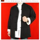 100% Cotton Black Kung Fu Martial Arts Tai Chi Jacket Coat XS-XL or Tailor Custom Made