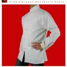 Premium Linen White Kung Fu Martial Arts Tai Chi Jacket Coat XS-XL or Tailor Custom Made