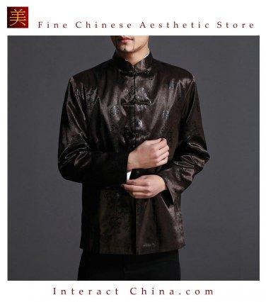 Classic Chinese Tai Chi Kungfu Green Jacket Blazer - Lightweight Silk Blend #202
