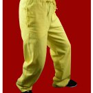 Fine Linen Golden Kung Fu Martial Arts Taichi Pant Trousers XS-XL or Tailor Custom Made