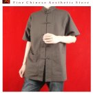 Premium Linen Brown Kung Fu Martial Arts Tai Chi Shirt Clothing XS-XL or Tailor Made