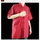 Fine Linen Red Kung Fu Martial Arts Tai Chi Shirt Clothing XS-XL or Tailor Custom Made