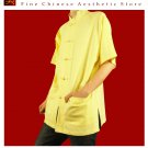 100% Cotton Golden Kung Fu Martial Arts Tai Chi Shirt Clothing XS-XL or Tailor Custom Made