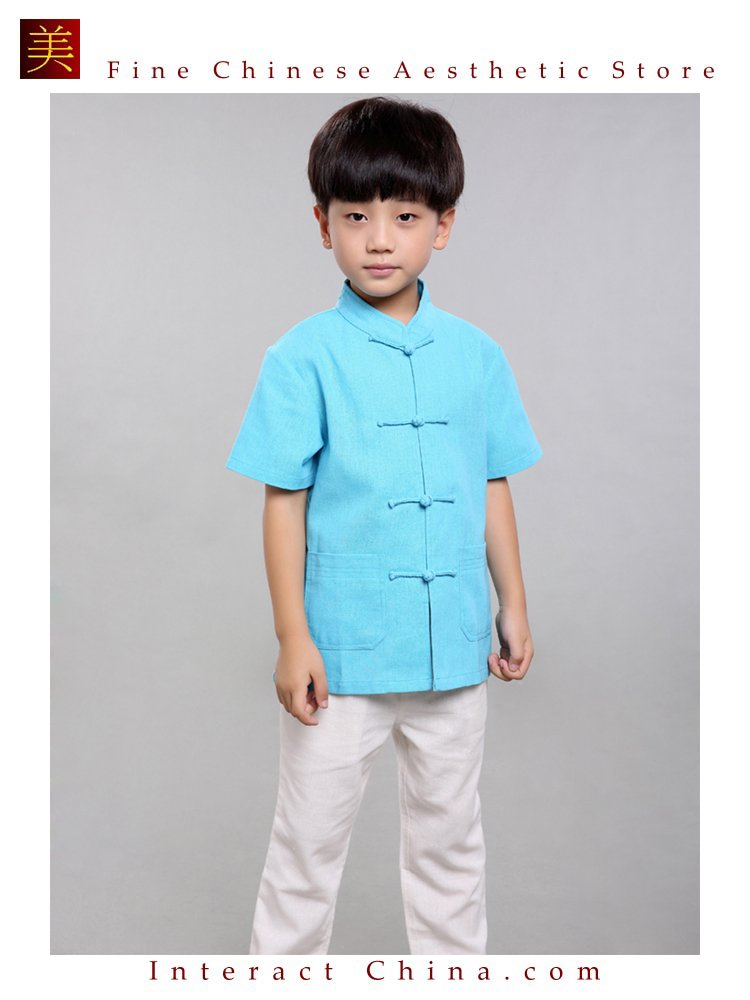 100% Handmade BoysKung Fu Tai Chi Shirt Martial Arts Costume KidsUniform #103