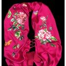 Premium Fine Natural Suzhou Silk Scarf 100% Hand Sewn Chinese Embroidery Art #105