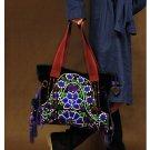 100% Handmade Handbag Purse Tote Shopper Bag - Fine Oriental Embroidery Art #104