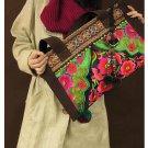 100% Handmade Handbag Purse Tote Shopper Bag - Fine Oriental Embroidery Art #112