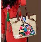 100% Handmade Handbag Purse Tote Shopper Bag - Fine Oriental Embroidery Art #127