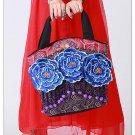 100% Handmade Handbag Purse Tote Shopper Bag - Fine Oriental Embroidery Art #134
