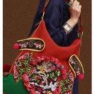 100% Handmade Handbag Purse Hobo Weekend Bag - Fine Oriental Embroidery Art #121