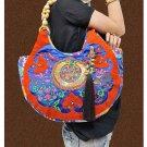 100% Handmade Handbag Purse Hobo Weekend Bag - Fine Oriental Embroidery Art #122