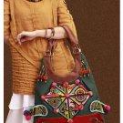 100% Handmade Handbag Purse Hobo Weekend Bag - Fine Oriental Embroidery Art #128