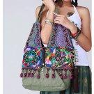 100% Handmade Handbag Purse Hobo Weekend Bag - Fine Oriental Embroidery Art #135