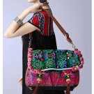 100% Handmade Handbag Purse Shoulder Sling Bag - Fine Oriental Embroidery Art #137