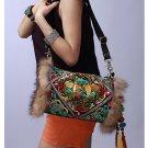 100% Handmade Handbag Purse Shoulder Sling Bag - Fine Oriental Embroidery Art #138