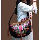 100% Handmade Handbag Purse Shoulder Sling Bag - Fine Oriental Embroidery Art #151