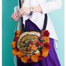 100% Handmade Handbag Purse Shoulder Sling Bag - Fine Oriental Embroidery Art #167