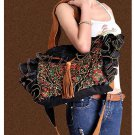 100% Handmade Handbag Purse Drawstring Shoulder Bag - Fine Oriental Embroidery Art #125