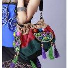 100% Handmade Handbag Purse Drawstring Shoulder Bag - Fine Oriental Embroidery Art #141