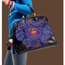 100% Handmade Handbag Purse Satchel Duffle Bag - Fine Oriental Embroidery Art #124