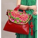 100% Handmade Handbag Purse Satchel Duffle Bag - Fine Oriental Embroidery Art #131