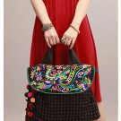 100% Handmade Handbag Purse Satchel Duffle Bag - Fine Oriental Embroidery Art #144
