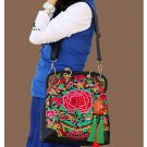 100% Handmade Handbag Purse Satchel Duffle Bag - Fine Oriental Embroidery Art #149