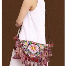 100% Handmade Handbag Purse Baguette Barrel Bag - Fine Oriental Embroidery Art #123
