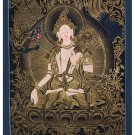 Tibet Tibetan Thangka Tangkas Buddha Buddhist Art Thanka Mineral Painting #068