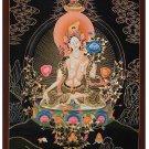 Tibet Tibetan Thangka Tangkas Buddha Buddhist Art Thanka Mineral Painting #074
