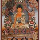 Tibet Tibetan Thangka Tangkas Buddha Buddhist Art Thanka Mineral Painting #078