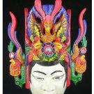 Chinese Drama Home Wall Décor Opera Mask 100% Wood Craft Folk Art #125 Pro Level