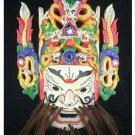 Chinese Drama Home Wall Décor Opera Mask 100% Wood Craft Folk Art #129 Pro Level