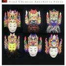 Chinese Drama Home Wall Décor Opera Mask 100% Wood Craft Folk Art #107-112 6 Role