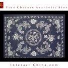 "100% Handcraft Chinese Art All Cotton 59x78"" Bedding Bed Sheet Spread Linen #403"