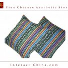 Unique 100% Handsewn Tribal Embroidery Sofa Couch Cushion Pillow Cover #401 Pair