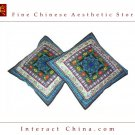 Unique 100% Handsewn Tribal Embroidery Sofa Couch Cushion Pillow Cover #207 Pair