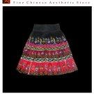 Tribal Vintage Clothing Costume Dress - Hmong Miao Handmade Embroidered Wrap Skirt #106