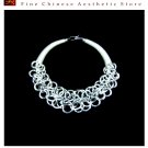 Silver Necklace Vintage Costume Tribal Jewelry 100% Handcrafted Jewellery Art #115