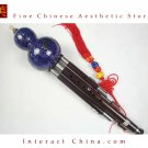 Ebony Cloisonne 3 Octaves Hulusi Flute Woodwind #109B + Case + How to Play Guide
