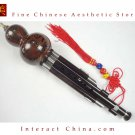 Ebony Cloisonne 3 Octaves Hulusi Flute Woodwind #109T + Case + How to Play Guide