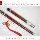 Sandalwood Bawu Flute Ba Wu Pipe Woodwind Detachable #103 + Case + How to Play Guide