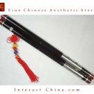 Premium Ebony Bawu Flute Chinese Ba Wu Pipe Woodwind Dual Pipe #108 - Pro Level