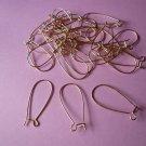 Large Goldplated NF Kidney Hook Earwires