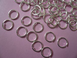 Silverplated Open Jump Rings  9mm