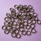 Bronze Color Metal Jump Rings  7mm