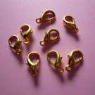 Gold Color Metal Lobster Clasps 12mm